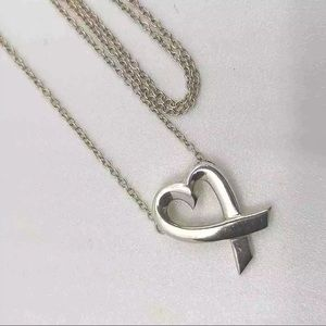 Tiffany & Co. Silver Heart Picasso Loving Necklace